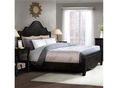 "Queen Curve Panel Bed: 21770-21771-21772 assembled size: 65 1/4"" wide x 85 7/8"" deep x 62"" high."
