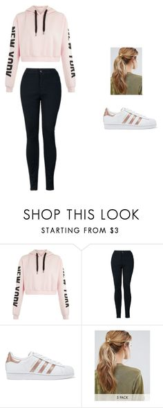 """""""Spring Casual"""" by championabbey ❤ liked on Polyvore featuring adidas Originals and Kitsch"""