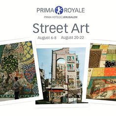 .Weekend of Graffiti, Street Art and Joie de Vivre!  A celebration of Jerusalem's often overlooked artistic expressions throughout the Golden City, with accommodations at our centrally located, 4 star, Hotel Prima Royale in Jerusalem.August 6-8th and Augu (scheduled via http://www.tailwindapp.com?utm_source=pinterest&utm_medium=twpin&utm_content=post11136188&utm_campaign=scheduler_attribution)