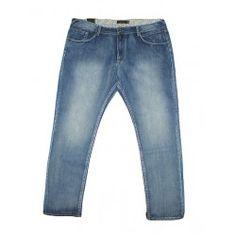 Pantalón vaquero (tejanos) en color azul claro para hombre en tallas grandes