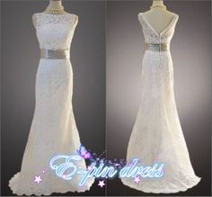 wedding dress - lace wedding dress - mermaid style wedding dress custom size 102102 on Etsy, $168.00