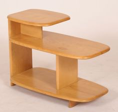 Heywood Wakefield Wheat 3 tier side/lamp table. Handed down to us by my mother in-law. Maple end tables...thanks Lois.