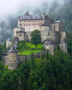 "authorjordanlink: "" Source: We Live In A Beautiful World "" Medieval, Hohenwerfen Castle, Salzburg, Austria Chateau Medieval, Medieval Castle, Beautiful Castles, Beautiful Places, Hohenwerfen Castle, Places To Travel, Places To See, Photo Chateau, Hallstatt"