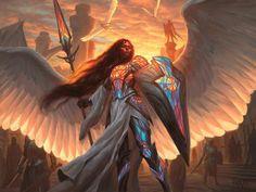 Dominaria MtG Art - Art of Magic: the Gathering Character Concept, Character Art, Concept Art, Angel Warrior, Fantasy Warrior, Fantasy Inspiration, Character Design Inspiration, Magic The Gathering, Illustration Design Graphique