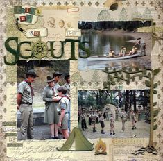 Going Up to Scouts - Scrapbook.com  Like compass in place of o in scouts
