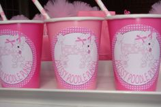 Pink poodle punch, top with whipped cream and pink sprinkles.