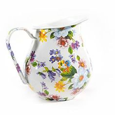 I love this tin pitcher.  I would love to have it and maybe a couple of matching cups.