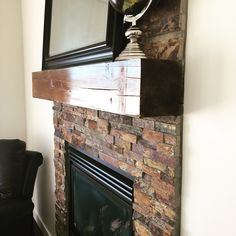 Hand crafted mantle made from reclaimed wood brought up from the North Saskatchewan River. Quality is in the details. Country Builders, Home Builders, Cross Country, Mantle, Slate, House Plans, River, Wood, Home Decor