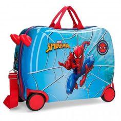 02b96fa27 Geanta copii pentru gradinita si calatorie ABS 4 roti 50 cm Spiderman Street