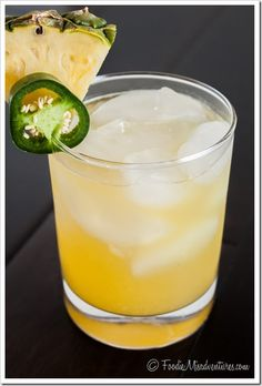 Pinapple Jalapeno Margaritas - the perfect combination of sweet and spicy!