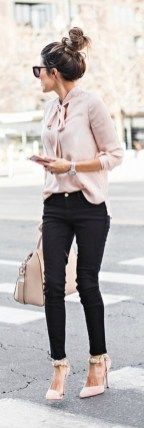 Bussiness outfit with high heel shoes inspiration (6)