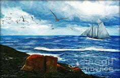 Kangaroo Island - digital painting by Lianne Schneider