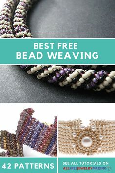 Bead lovers beware: You're about to get lost in a mesmerizing collection of some of the best bead weaving patterns on the Web! 42 Best Free Bead Weaving Patterns