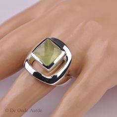 Prehniet, Prehnite, ring, ringen, jewelry, De Oude Aarde