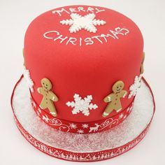 Christmas Gingerbread Man Cake