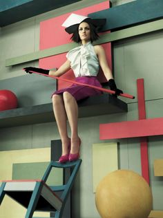 True to Form I Vogue US I August 2007 I Model: Amber Valletta, Editor: Grace Coddington, Photographer: Steven Meisel
