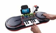 Electronic Beats DJ Turntable Mixer IOS/Andriod Smart Phone Compatiable NEW #SharperImage