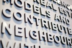 Platform by Aragon Properties - Free Agency Creative Sales Center, Aragon, Vancouver, Signage, Environment, Typography, Platform, Display, Graphic Design