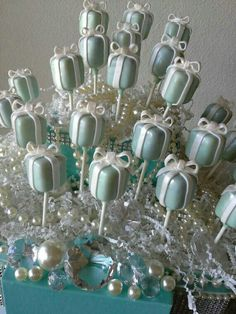 Tiffany Themed Cake Pops