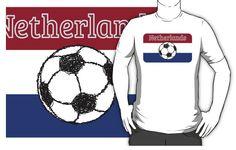Netherlands Flag | Football t-shirt , by piedaydesigns