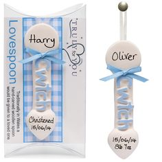 Christening or Birth of a Baby Boy Gift in Baby Blue (One supplied per order