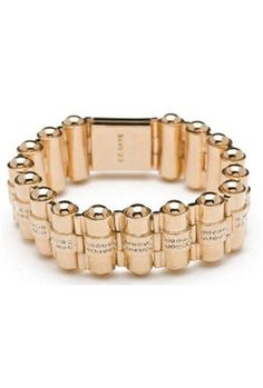 CC Skye Pave Bullet Holder Bracelet in Gold
