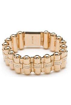 CC Skye Pave Bullet Holder Bracelet in Gold $215.00