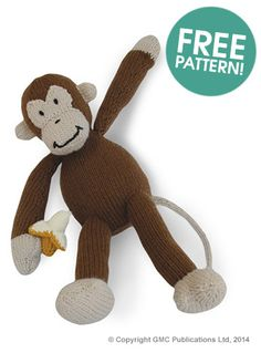 Knitted Monkey Pattern |FREE from  Deramores (knit)