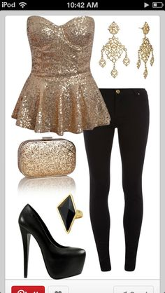 Love the pants and the earrings, but the top and shoes are a bit much for my liking