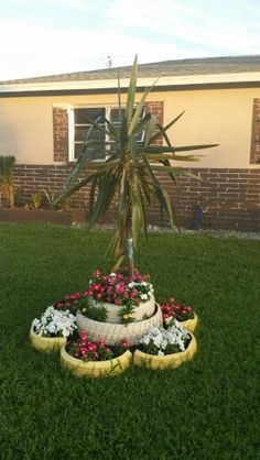 Flower tire planter