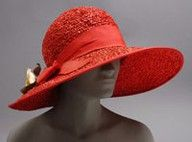 Woman's Hat  1922,  Made of straw and ribbon