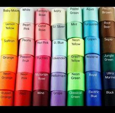 Here's a color chart❤️