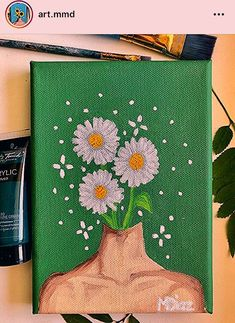 aesthetic painting aesthetic painting, To obtain you started, we've compiled these list DIY canvas painting ideas. Simple Canvas Paintings, Easy Canvas Art, Small Canvas Art, Mini Canvas Art, Easy Canvas Painting, Cute Paintings, Diy Canvas, Canvas Ideas, Painting Art
