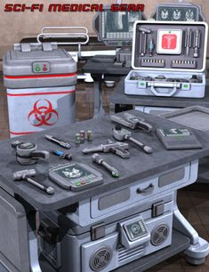 Sci Fi Medical Gear is a environments and props, machinery equipment, science fiction, industrial equipment for Daz Studio or Poser created by Futuristic Art, Futuristic Technology, Futuristic Interior, Mars One, Industrial Espionage, Futuristisches Design, Concept Art Tutorial, Sci Fi Weapons, E Mc2
