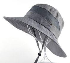 Fishing Hat with Snaps and Chin Straps