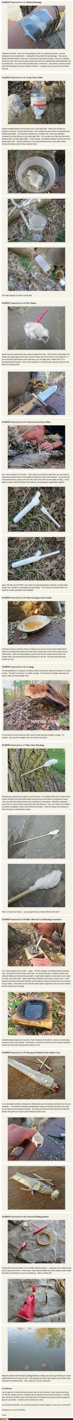 Survival Guide with Tampons
