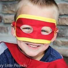 Make your little superhero a mask that is reversible and sturdy.