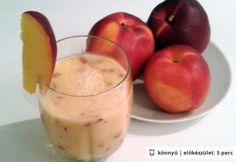 Barack koktél Apple, Fruit, Smoothie, Food, Apple Fruit, The Fruit, Smoothies, Meals, Apples