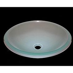 Frosted White Glass Vessel Sink | Overstock.com Shopping - Great Deals on Bathroom Sinks