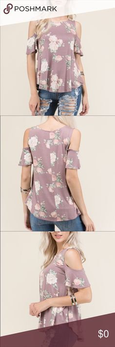 Coming Soon Cold shoulder floral print top  Like or comment on this listing to be notified of when it arrives!! Tops Tees - Short Sleeve
