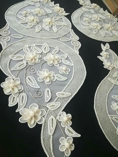 White Embroidery, Ribbon Embroidery, Embroidery Stitches, Diy Arts And Crafts, Hobbies And Crafts, Diy Crafts, Crochet Flower Patterns, Crochet Flowers, Bruges Lace