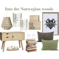 In the woods by wenche-andersen on Polyvore featuring interior, interiors, interior design, home, home decor and interior decorating