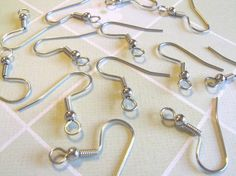 Sale  24pcs Surgical Stainless Steel French Hook by cutiestuffs, $3.00