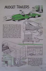 Vintage 1938 How-to Build Pedal Car Teardrop Trailer & Covered Wagon Artcle Plan