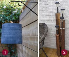 deck lighting Ideas Easy | Karen used a clay pot from the dollar store to make this beautiful ...