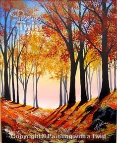 Walk in the Woods - Miami, FL - Design District Painting Class - Painting with a Twist