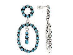 Southwest Style By Jtv(Tm) Pear Shape And Round Kingman Turquoise Silv