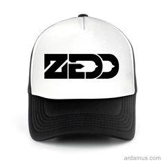 Zedd Trucker Hat for men or women. Available color black, red, pink, green. Shop more at ARDAMUS.COM #djtruckerhat #djcap #djsnapback #djhat