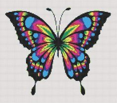 Butterfly Cross Stitch Pattern Embroidery Scheme for cross