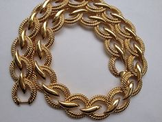 Vintage collana Napier firmato audace pista oro collana